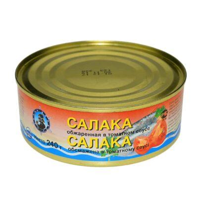 Салака обжаренная в томатном соусе