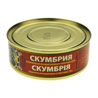 Скумбрия бланшированная в томатном соусе
