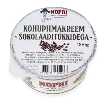 Твороженный крем с шоколадной крошкой 100гр